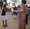 Honourable Minister Patricia Kaliati gives gift to beneficiaries _3